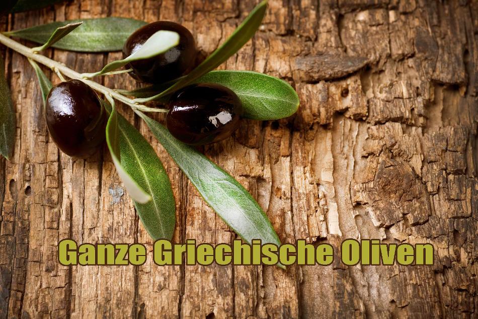 Schmackhafte griechische grüne und schwarze Oliven in Rohkostqualität vakuumverpackt