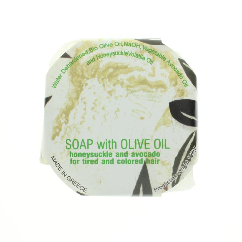 Bio-Olivenöl-Seife mit Geißblatt und Avocado