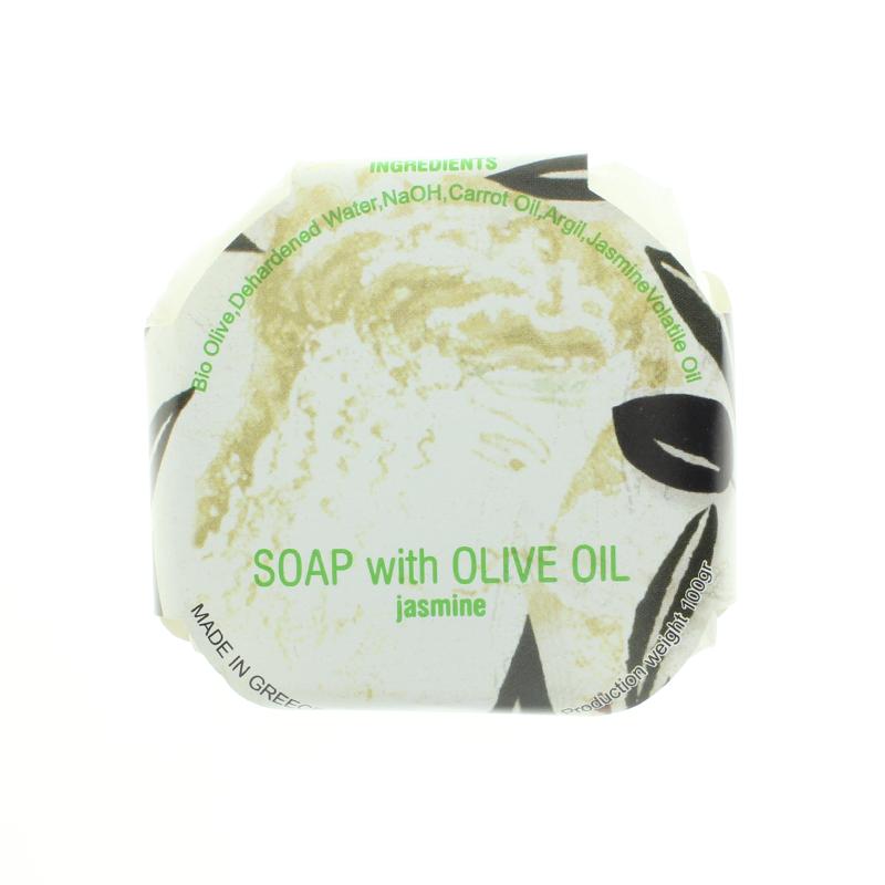 Bio-Olivenöl-Seife mit Jasmin