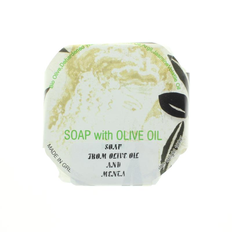 Bio-Olivenöl-Seife mit Minze